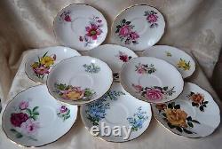 10 Tea Cups and Saucers, Vintage Tea Sets, Mismatch Bulk Teacups, England