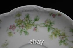 1920's 19 Pc. Haviland & Co. Limoges 2 Cups (9) and Saucers (10) Pink Flowers