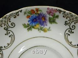 26 Pc. VICTORIA Dresden Flower Sugar, Creamer, Cup & Saucer Czechoslovakia MINT