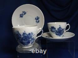 4 Royal Copenhagen Blue Flower # 8261 Coffe Cup and Saucer Sets Excellent