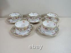 5 Schumann Germany Empress Dresden Flowers Cups and Saucers