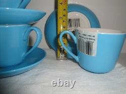 6 Sets Blue Villeroy Boch Wonderful World demitasse Espresso flat cups /Saucers