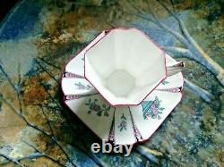 A Beautiful Shelley, Coffee Cup & Saucer, Queen Anne Shape, Pink Flower Pannels