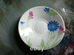 A Very Beautiful Shelley, Art Deco Eve Coffee Cup And Saucer, Daisy Flowers