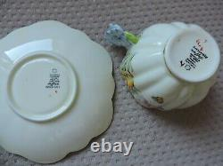 Antique Flower Paragon Butterfly Floral Handle Rare Collectible Cup Saucer
