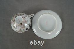Antique Japanese Hand Painted Swallows Pink Flowers Wisteria Tea Cup & Saucer B
