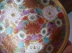 Antique Japanese Satsuma Thousand Flowers Demitasse Cup and Saucer
