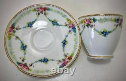 Antique Mintons Demitasse Cup & Saucer, Hand Painted
