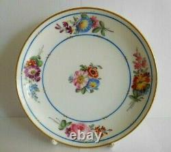 Antique Nast Porcelain Cup And Saucer Painted With Flowers In The Sevres Style