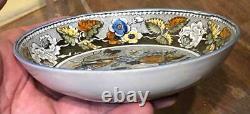 Antique Salopian Transfer Bird Fruit + Flowers Pearlware Cup & Saucer, c. 1815