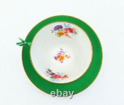 Antique Star Paragon Pansy Flower Handle Tea Cup and Saucer Primrose Pattern