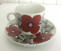 Arabia Finland Isokukka (Big Flower) Coffee Cup & Saucer Esteri Tomula