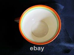 Art Deco Clarice Cliff Bizarre Cup & Saucer Banded with Flowers 1930's Original