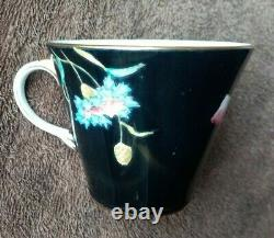 Aynsley Gilded Floral Poppy & Flowers Pattern B 4156 Cup Saucer & Plate Trio