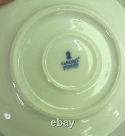 BEAUTIFUL RETIRED LLADRO DEMITASSE CUP AND SAUCER With ORCHID FLOWER HANDLE