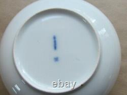 BERLIN KPM PORCELAIN COFFEE CUP & SAUCER HP FLOWERS & INSECTS (Ref4496)