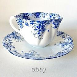 Beautiful English Shelley Dainty Blue Cup And Saucer Dainty Shape Blue Flowers