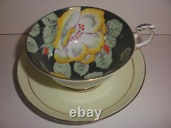 Beautiful fine English Paragon Hand Painted Yellow Gardenia Flowers Cup & Saucer