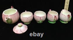 Carlton Ware Tea 8 Set Pink Buttercup Teapot Creamer Sugar Cups Saucers Vintage