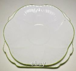 Deco Shelley Dainty Flower Handle Cup Saucer Plate Trio A/F No2