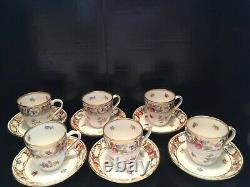EMPRESS DRESDEN FLOWERS demitasse cups and saucers SET OF SIX by Schumann
