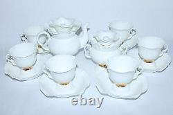 EXCLUSIVE Russian Imperial Lomonosov Porcelain Tea cup & saucer White Flower
