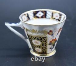 Franziska Hirsch Dresden German Imari Flowers Red Blue & Gold Tea Cup & Saucer e