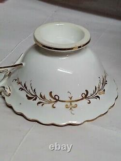 H&r Daniel Tea Cup & Saucer Chain Or Rope Edge Shape Pa 7067