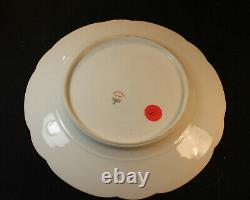 Haviland H1799 Dammouse Dinner Plate, Cup& Saucer Red, Reflective Gold Flowers