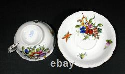Herend Fruits & Flowers Footed Cup & Saucer