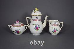 Herend Mokkaservice Apponyi bunt mocha set Blumen Tasse flowers pot cup saucer