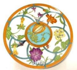 Hermes Siesta island Tea Cup Saucer Tableware Blue Floral Flower New Ornament