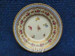 Kpm Porcelain Cup & Saucer Small Size Flower Decoration Mokka