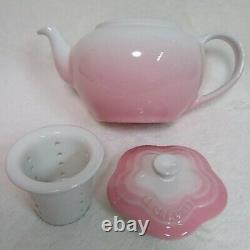 Le Creuset Small Flower Teapot Cup Saucer set Powder Pink Sakura Japan