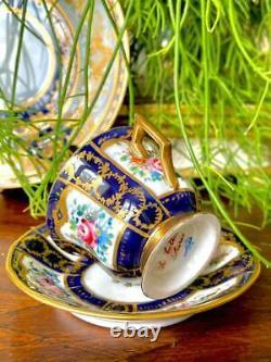 Le Tallec Paris Splendid Cup and Saucer Fabulous Decor Flowers and Gildings NR2