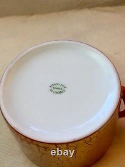Limoges Sophie Villepigue handpainted flower handle Barney of cup and saucer set