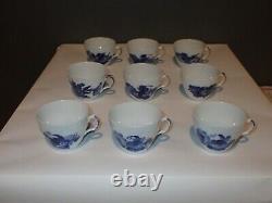Lot of Royal Copenhagen Blue Flower Braided Cup & Saucers #8261 DENMARK