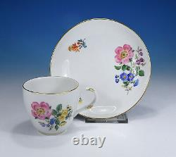 Meissen Flower 3 Coffee Cup and Saucer
