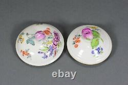 Meissen Mokkaservice Blumen flowers mocha service cup pot saucer plate
