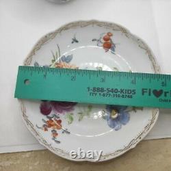 Meissen Porcelain Hand Painted Flower Tea Cup Saucer 1815