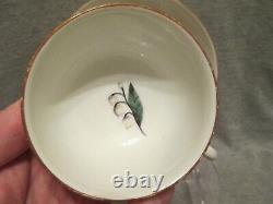 Meissen Porcelain Woodcut Flower Cup & Saucer 1st Class, 1740