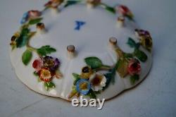 Meissen handpainted plastic flowers cup and saucer