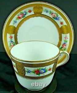 Minton Stunning Cup & Saucer Hand Painted Flowers -gilding Pat A6663