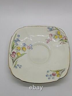 PARAGON Lily of the Valley Vintage Flower Handle Fine Bone China Cup & Saucer