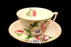 PINK FLOWER GOLD TRIM By Narumi TEA / COFFEE POT CUP & SAUCER & CAKE PLATE SET