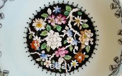 Paragon China Tea Cup & Saucer By Appointment Black w Flowers & Mint Green