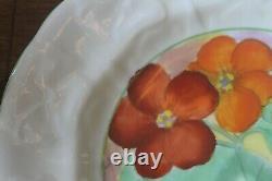 Paragon TRIO Geranium Pansy Flower handle teacup tea cup saucer plate star mark