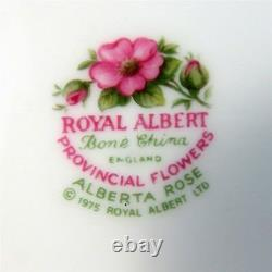 Provincial Flowers Alberta Rose Royal Albert Tea Cup, Saucer and Plate Trio Set