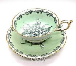 RARE Paragon Horseshoe Lily of the Valley TO THE BRIDE Bone China Cup & Saucer