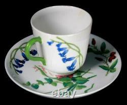 Rare Minton Cup and Saucer Garden Flowers Circa 1870 B251